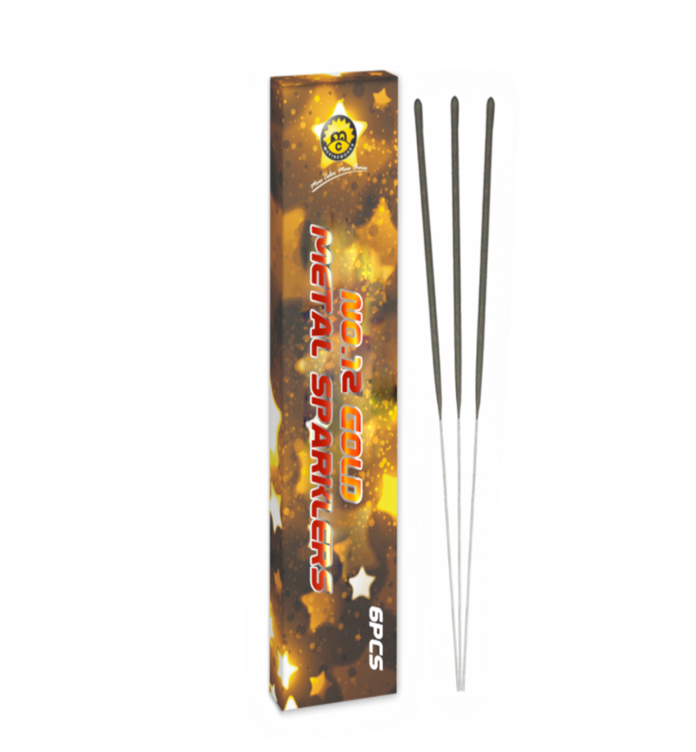MC1303 No.12 Gold Metal Sparklers
